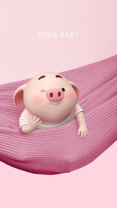 Kawaii Pig, Pig Wallpaper, Cute Piglets, Happy Pig, Pig Drawing, Pig Illustration, Funny Pigs, Mini Pigs, Baby Pigs