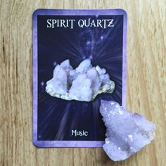 Card of the Day - 28 June: Spirit Quartz | Crystal Reading Cards by Rachelle Charman #spiritquartz #music. Read more on the blog!