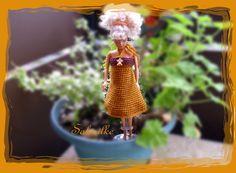 Barbiekleid - *** Minikleid mit Engel ***  für Barbie - ein Designerstück von Sabisilke bei DaWanda