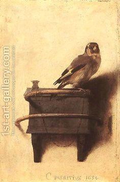 Carel Fabritius:The Goldfinch 1654