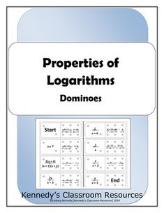 In this activity, students will practice the properties for logarithms. High School Classroom, Classroom Fun, Classroom Activities, Math Teacher, Teaching Math, High School Activities, Math Notes, Precalculus, Math Courses