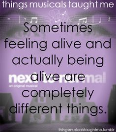 Next to Normal: Sometimes feeling alive and actually being alive are completely different things