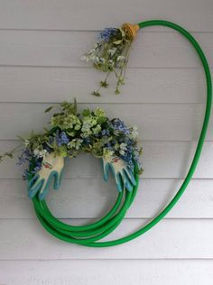 Turn an old garden hose into a work of art. Fun!