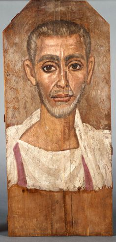Mummy Portrait Of A Bearded Man. c. 250 CE  Roman Imperial period, late. Fayum (Egypt)
