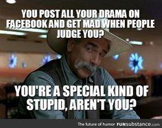 Too much facebook drama - FunSubstance.com