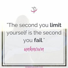 """The second you limit yourself is the second you fail."" What are you afraid of? What rules are preventing you from becoming a better version of yourself?  #inspiration #motivation #goodmorning #selfimprovement"