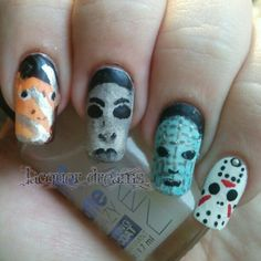 Halloween nails manicure!!