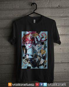 Black Butler Anime t-shirts unisex Only $17 ship to worldwide, available size S to 2XL. #BlackButler #Michaelis #Phantomhive #MeyRin #Finnian #Anime #Shirt #Otaku #Cosplay #Clothing #Tshirt