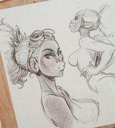 Grace aka Yumma The Dancer #fabricabarbucci #alessandro_barbucci #barbucci #bande_dessinée #bd #comicart #comics #characterdesign #pencil #crayonné #disegno #fumetti #sexydancer #sexydrawing #girldrawing #pencilonpaper #sketch #artoninstagram #blacklady #analogicart