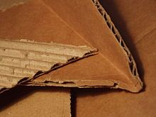 Corrugated fiberboard - Wikipedia, the free encyclopedia