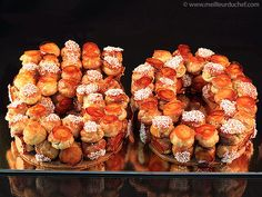 Gâteau d'anniversaire façon croquembouche Beaux Desserts, Fancy Desserts, Fancy Cakes, Croquembouche, China Food, China China, Food Tags, Choux Pastry, Number Cakes