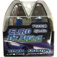 Cheap EuroDezigns H7 White/Blue Headlights - Low Beam 7500k Xenon-Krypton HID…