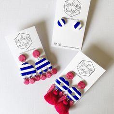 Hey there sailor  these guys will be available Sunday 7pm . . . #handmade #handmadeearrings #etsy #etsyshop #etsystore #etsyseller #etsyaustralia #etsyjewellery #earrings #stripes #tassels #statementearrings
