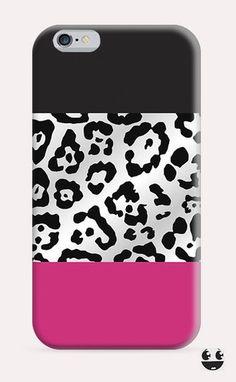 iPhone Case iPhone 4 Case & iPhone 4S, Case iphone 5 Case & iPhone 5S Case, iPhone 5C Case, iPhone 6 Case & iPhone 6, Plus  Pink Leopard Black