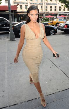 Kim walks out in New York City on June 26, 2014.