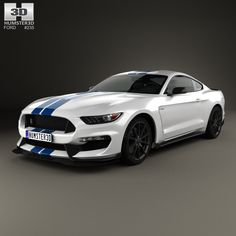 Ford Mustang Shelby GT350 2015 3d model from Humster3D.com