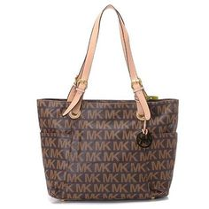 High Quality Michael Kors Jet Set Logo Large Coffee Totes For You!