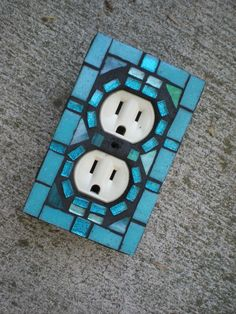 Mosaic Outlet Cover by MariposaMosaics