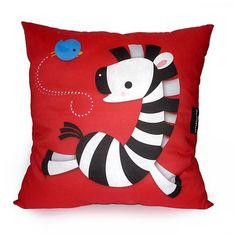 Deluxe Pillow Happy Zebra by mymimi on Etsy  From mymimi on Etsy