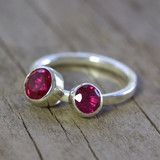 Kinetic ruby ring - two settings