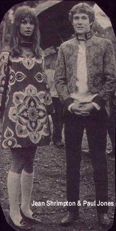 Jean Shrimpton and Paul Jones on the set of Privilege, 1967--A Dandy In Aspic: Peacock revolution