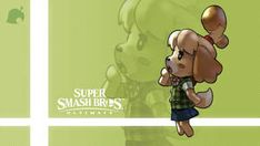 Ultimate - Isabelle by on DeviantArt Video Game Logic, Video Game Art, Video Games, Super Smash Bros, Super Smash Ultimate, Kirby Memes, Mario Memes, Drawing Challenge, Fighting Games