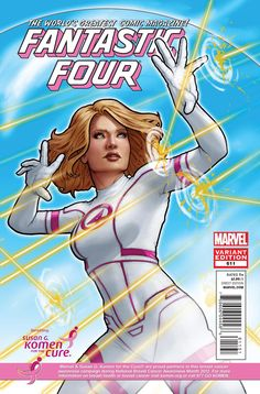 FantasticFour Marvel SuperHeroes goes pink.