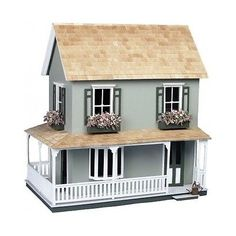 Doll house kit #victorian country #cottage girls dollhouses #crafts wood great gi,  View more on the LINK: http://www.zeppy.io/product/gb/2/272446748023/
