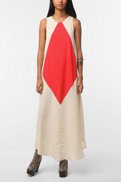 Kinda odd...I like it! Cameo Poison Ivy Colorblock Maxi Dress  #UrbanOutfitters