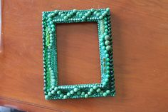 beaded picture frame on etsy