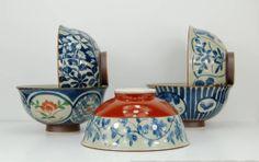 Japanese Arita porcelain tea bowls