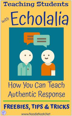Teaching Students with Echolalia- Practical tips for getting authentic speech. - - Teaching Students with Echolalia- Practical tips for getting authentic speech. Autism Teaching, Autism Activities, Autism Classroom, Speech Therapy Activities, Language Activities, Student Teaching, Teaching Tips, Autism Books, Speech Therapy