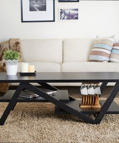 Love this Black Timothy Modern Coffee Table by Furniture of America on #zulily! #zulilyfinds