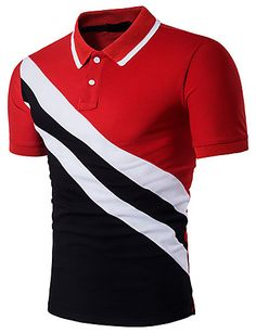 Shop Men Cut And Sew Polo Shirt online. SHEIN offers Men Cut And Sew Polo Shirt & more to fit your fashionable needs. Polo T Shirts, Short Sleeve Polo Shirts, Golf Shirts, Men's Polos, Cotton Shirts, Mens Casual T Shirts, Mens Tees, Men Casual, Shirt Men