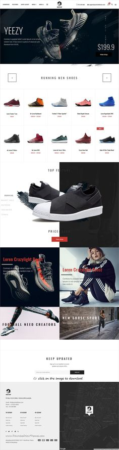 Moodshop is clean and modern design responsive WooCommerce #WordPress theme for stunning #shoes shop #eCommerce website with 4 niche homepage layouts to download click on image.
