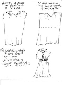 Easy to Sew Maxi Dress….I dont like the finishing picture BUT i would make it floor length ^_^