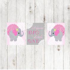 Kinderzimmer Dekor Pink Gray-Digital von GabbyCatCreations auf Etsy