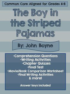 boy in striped pyjamas essay questions The boy in the striped pyjamas essay questions - no more fs with our top essay services 100% non-plagiarism guarantee of exclusive essays .