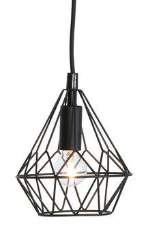 Fönsterlampa i metall. Textilklädd sladd, sladdlängd 1,2 m, med takkontakt. Höjd 17 cm. Ø 16 cm. E14. Max 25W.