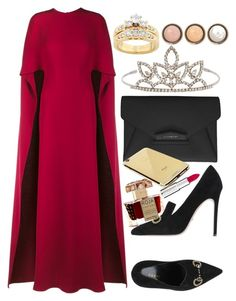 """Untitled #1452"" by anarita11 ❤ liked on Polyvore featuring Roja Parfums, Valentino, Gucci, Givenchy, Yves Saint Laurent, Kobelli, Goldgenie, By Terry, women's clothing and women's fashion"