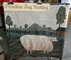 Beautiful hooked rug by Linda Harwood