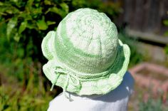 Knitting Pattern Only  Cotton Sun Hat by WhiteFlowerNeedle on Etsy, $3.99