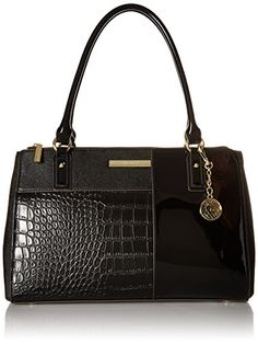 Anne Klein Shimmer Down II Tote Bag BlackBlack One Size ** Details can be found by clicking on the image.