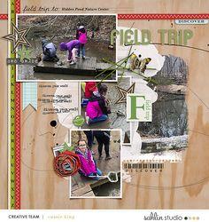 FREE Digital Scrapbooking Template / Sketch | June '20 | Sahlin Studio | Digital Scrapbooking Designs
