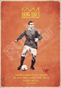 Manchester United Legends, Eric Cantona, Old Trafford, Tv Commercials, Soccer Players, Premier League, Vintage Posters, The Unit, Football