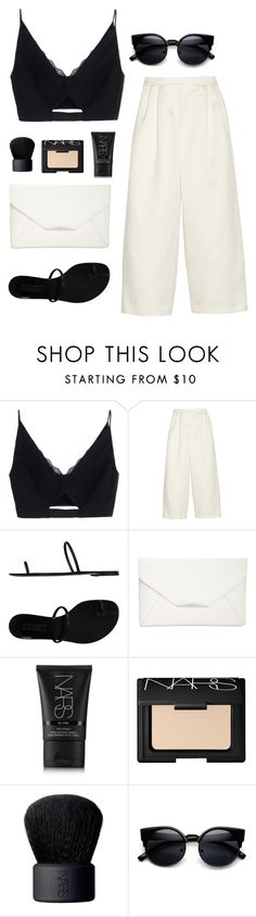 """Minimalist #10"" by anandptr on Polyvore featuring Versace, TIBI, Casadei, Style & Co., NARS Cosmetics and ZeroUV"
