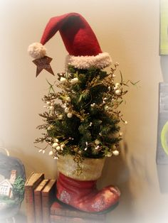 Forever Decorating!: Found A Santa Boot!  (I saw one the other day...now if I could just remember where!!)
