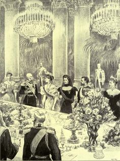 Franz Joseph and Empress Elisabeth of Austria with Nicholas II and Alexandra of Russia (Sisi, due to the movie also known now as Sissi, 1837-1898)