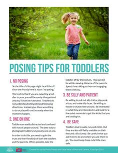 Free Posing Guide from Pretty Presets for Lightroom: Posing Tips for Toddlers Toddler Photography, Photography Guide, Photography Business, Photography Tutorials, Family Photography, Indoor Photography, Toddler Poses, Children Poses, Posing Guide