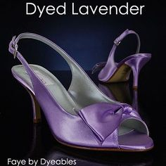 We've seen a lot of lavender in the bridal world lately! Dye your wedding shoes lavender!